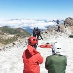 「山びこの会」が山頂付近で行方不明者を捜索