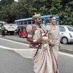 長さ3・2キロ! スリランカ最長の花嫁衣装