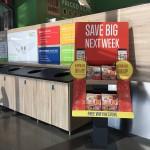 今年6月、アメリカに進出を果たしたドイツのディスカウント・スーパーマーケット・チェーンのリドルもポップやリーフレットを使って自社アプリを訴求している。リドルは1号店オープン当初から月曜日と木曜日に生鮮品5品目がディスカウントになる「フレッシュ5スペシャル(Fresh 5 Specials)」を行っている。広告費を削減するため、告知はアプリでも行っているのだ。