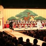 毎年恒例、小松市内の中学校が「勧進帳」を上演