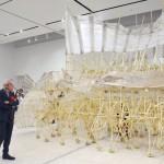 風力で動く人工生命体の展示会、人気を博す
