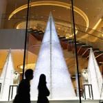 高さは6メートル、銀座で輝くクリスマスツリー