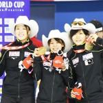 日本女子、伸びしろ残し世界新で優勝