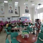 台中市内にある民進党の蔡英文総統候補の選挙本部。台中市内の立法委員候補の顔写真が飾ってある