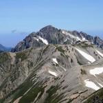 立山から眺めた剱岳(2999m)の猛々しい雄姿