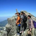 立山三山の最高峰・大汝山(3015m)の頂上