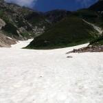 雷鳥沢の大雪渓