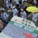 カトリック香港教区の陳日君枢機卿もデモ行進に参加した
