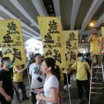 支連会(香港市民支援愛国民主運動連合会)とは別の場所で天安門事件追悼集会を開いた急進民主派団体の熱血公民メンバーら