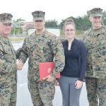 海兵隊員が人命救助で受章
