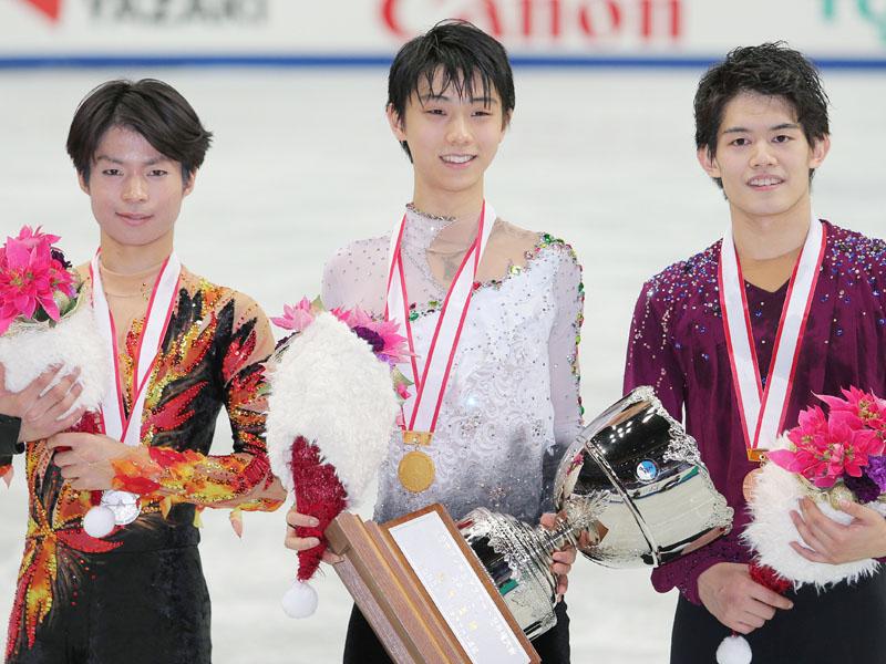 全日本フィギュア、羽生が連覇で初の五輪切符