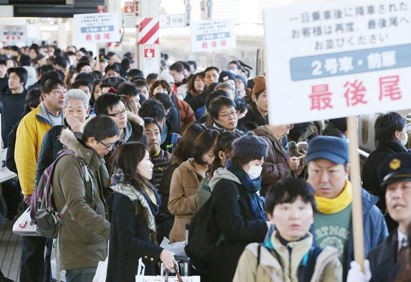 東京駅、帰省ラッシュがピーク