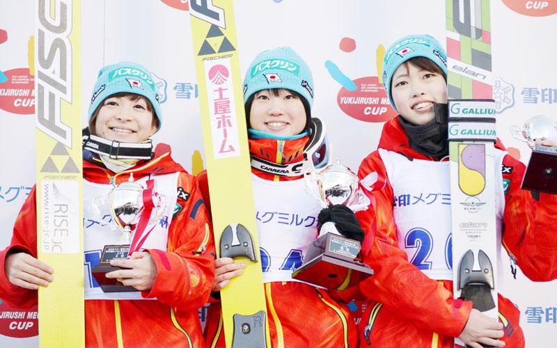 雪印メグミルク杯ジャンプ、伊藤有希が優勝