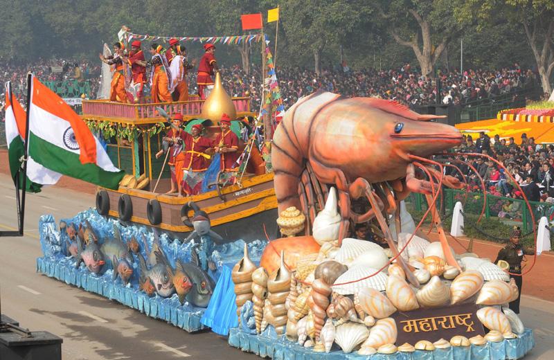 インドの「共和国記念日」のパレード