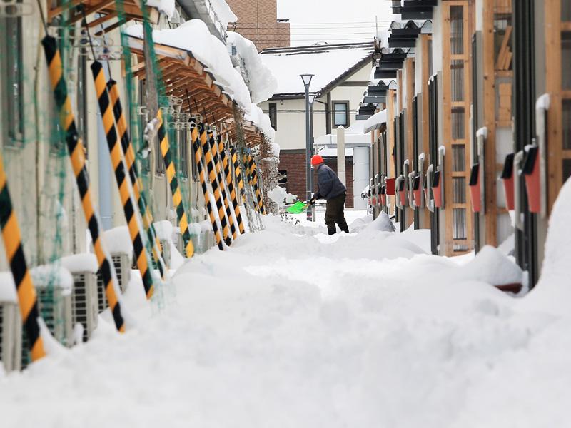 仙台で積雪最大35センチ、観測史上3番目