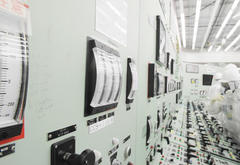 福島第1原発の中央制御室、報道機関に初公開