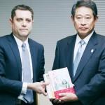 イスラエル大使館が被害自治体に300冊を寄贈