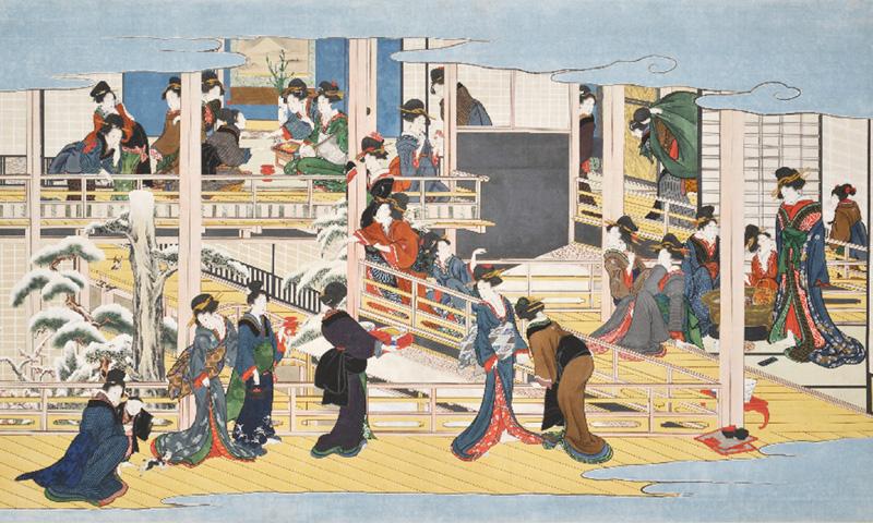 喜多川歌麿の傑作「深川の雪」が見つかる