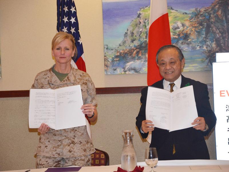 宜野湾市と北谷町が津波避難で米軍施設と協定