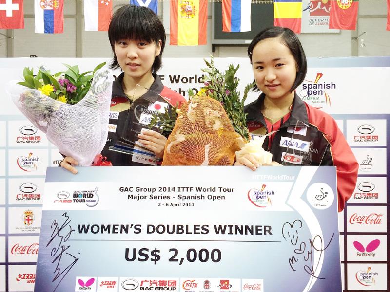 卓球ワールドツアーで躍進続く13歳の平野美宇