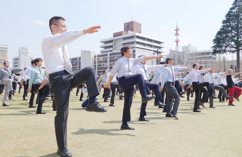 栃木県でオリジナルの職場体操