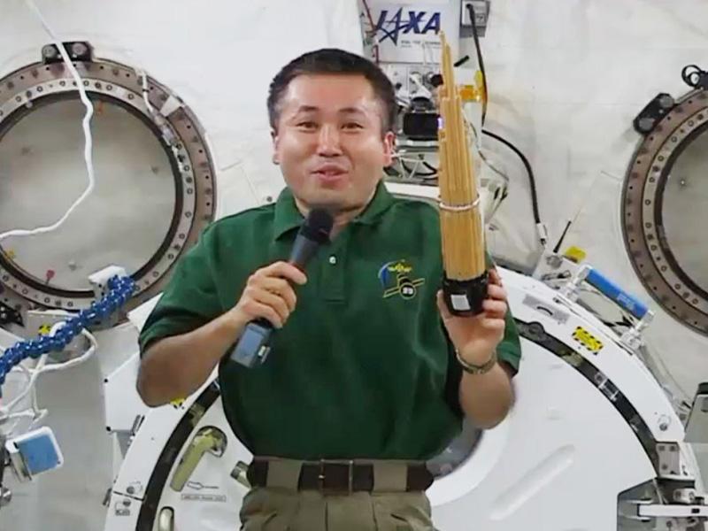 若田光一さん、宇宙で雅楽器「笙」を演奏