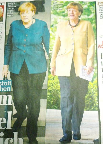 ドイツのメルケル首相、ダイエットに成功?