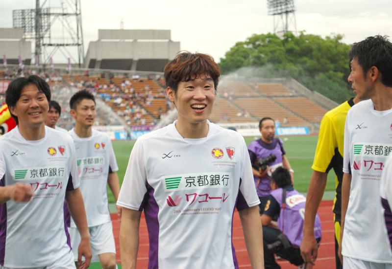 朴智星が出場、「京都でプレーできてうれしい」