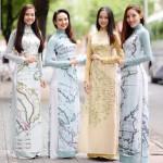 ベトナムの伝統衣装「アオザイ」で領有アピール