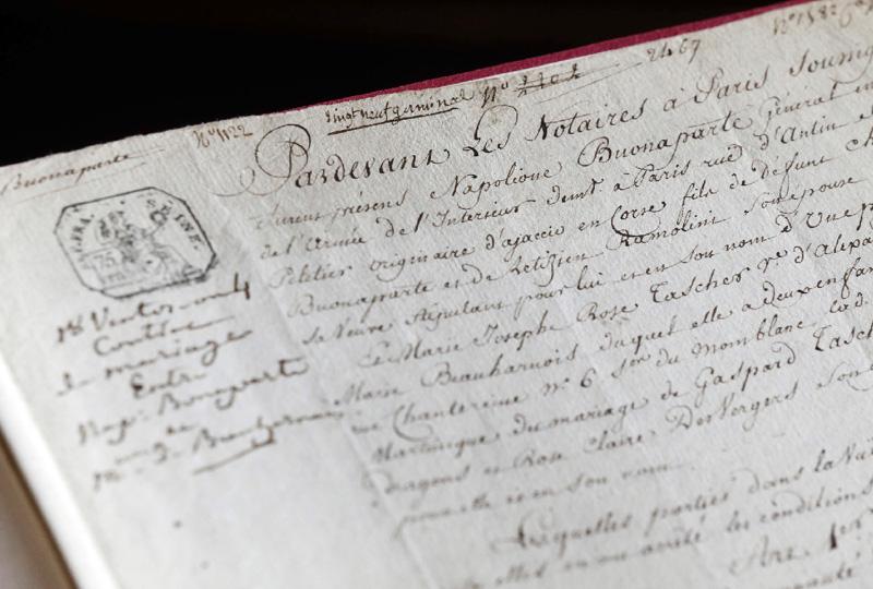 ナポレオンの婚姻証明、9月に仏で競売へ