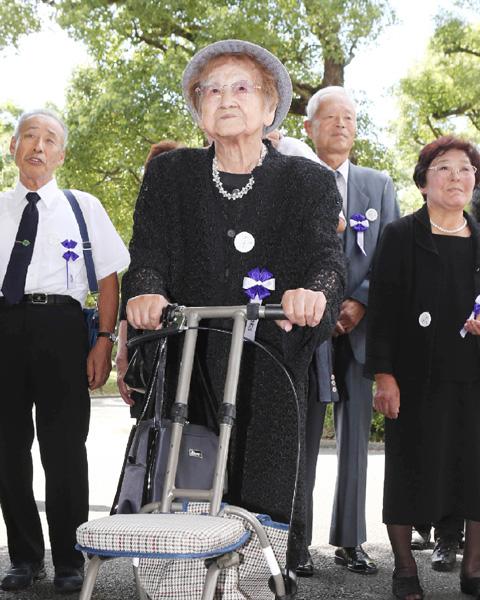 追悼式参列者の最年長は100歳、最年少は7歳