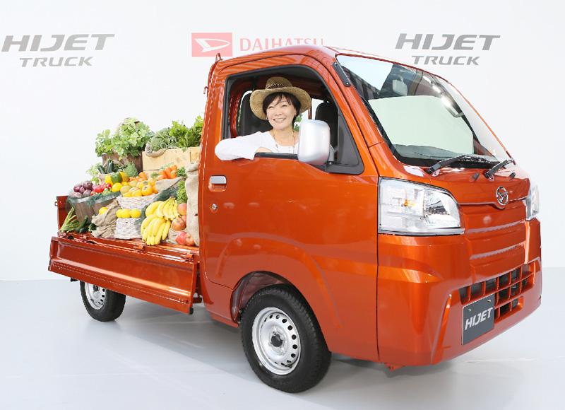 ピンクの軽トラ「ハイゼットトラック」発売