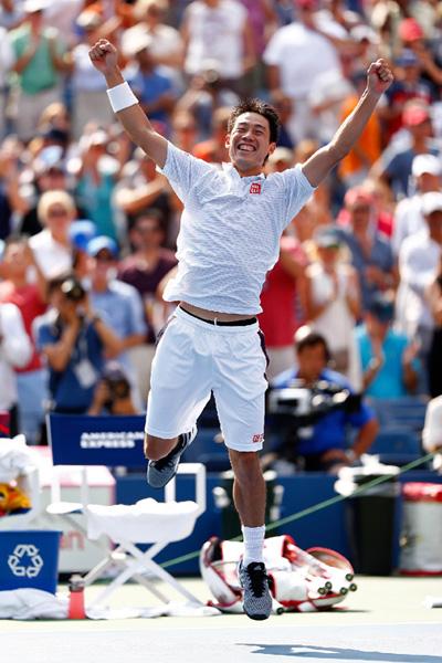 錦織圭、全米テニスで日本人初の決勝へ
