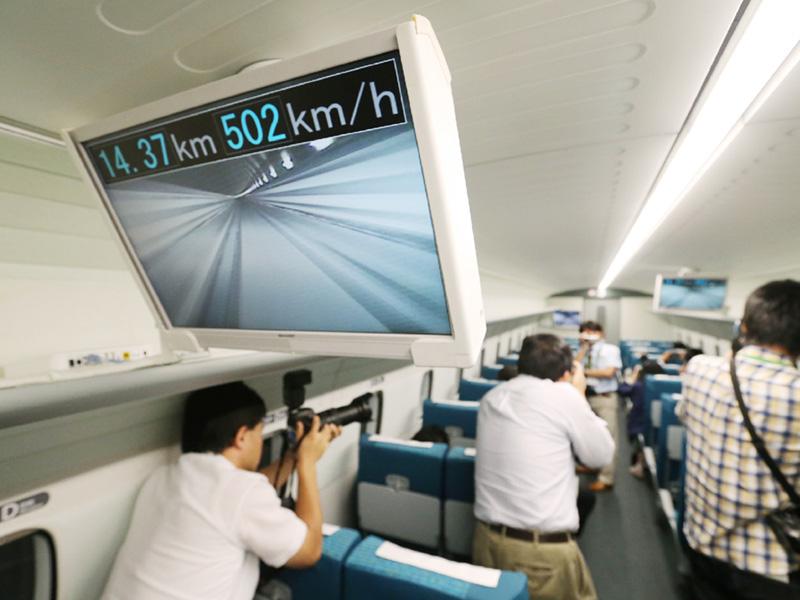 リニア実験車両「L0系」で時速500キロ