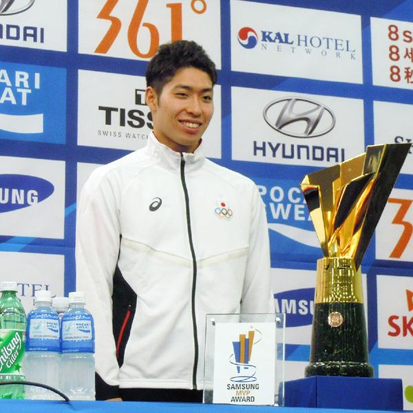 競泳の萩野公介、仁川アジア大会のMVPに