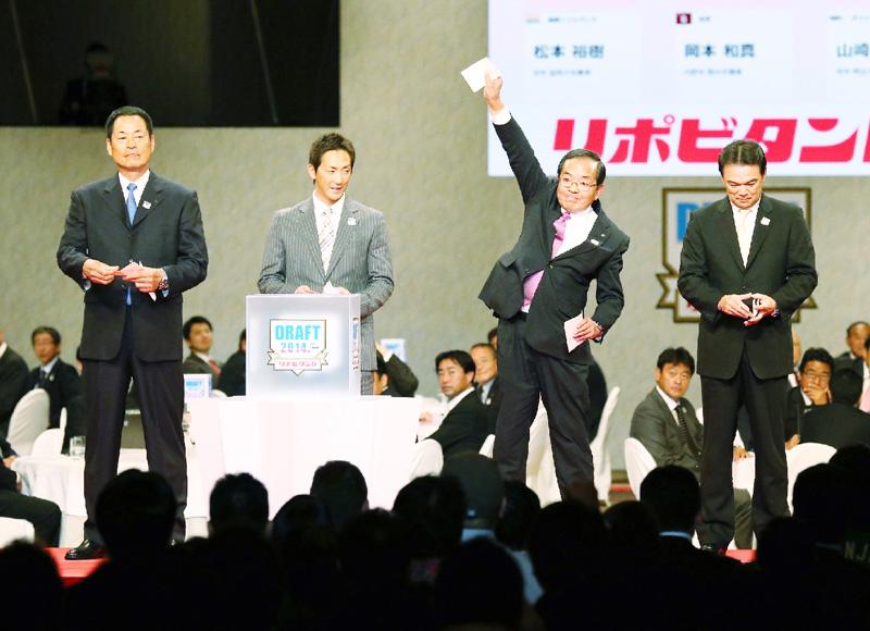 4球団が有原を1位指名、日本ハムが交渉権