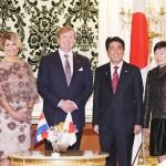 安倍首相、オランダ国王夫妻と会談
