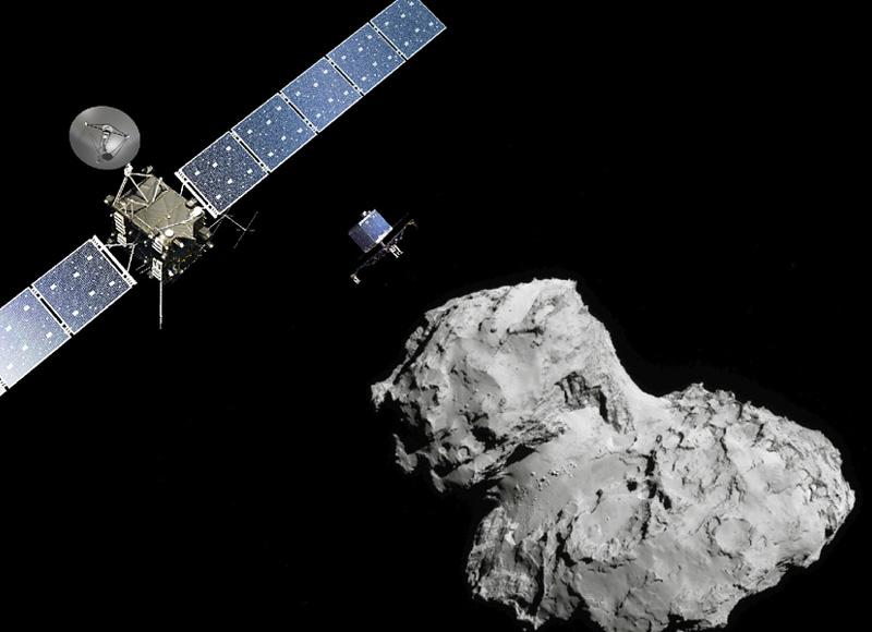 探査機ロゼッタ、チュリュモフ彗星の核へ