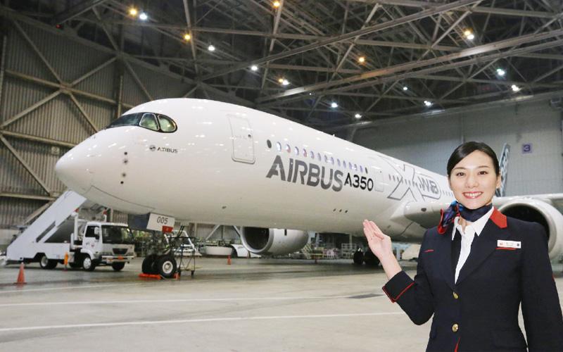 エアバス、最新型旅客機「A350」を公開