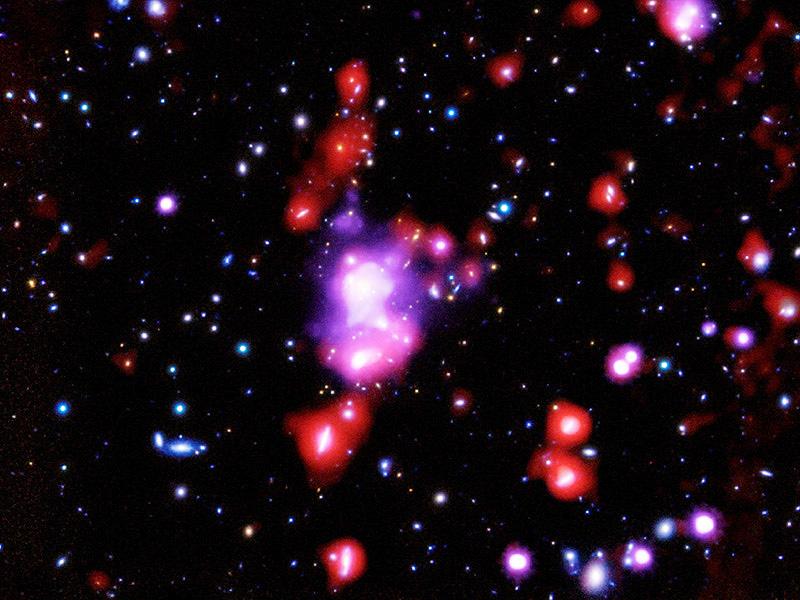 国際チーム、96億光年先に「宝石銀河団」