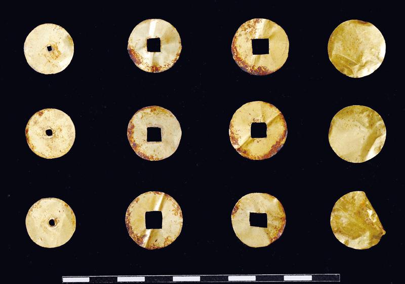 首里城跡から琉球王朝時代の祭祀銭が出土