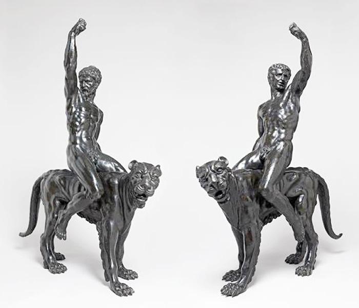 作者不明のブロンズ像、ミケランジェロの作品か