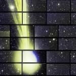 尾を引く彗星、鮮明な画像を撮影