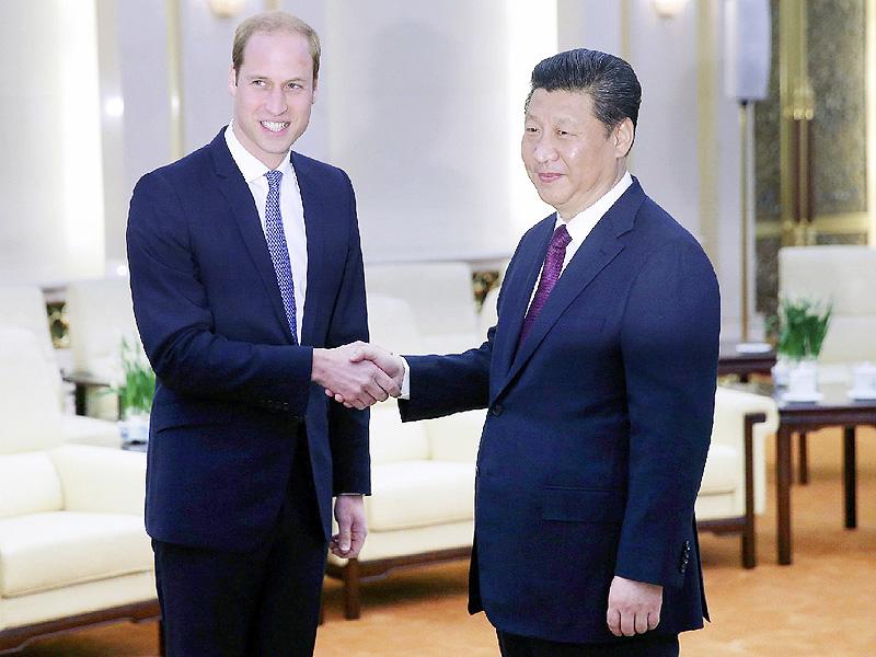 ウィリアム王子が初訪中、習近平主席と会談