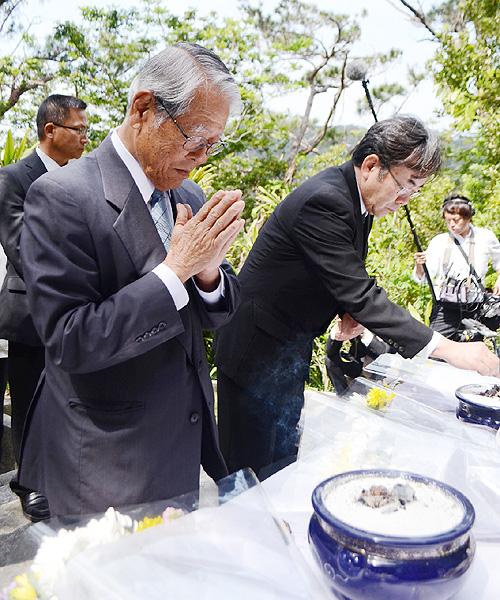 沖縄・座間味村、「多くの犠牲、忘れない」