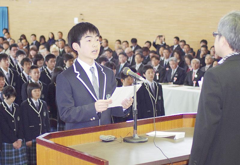 「福島県立ふたば未来学園高校」で入学式