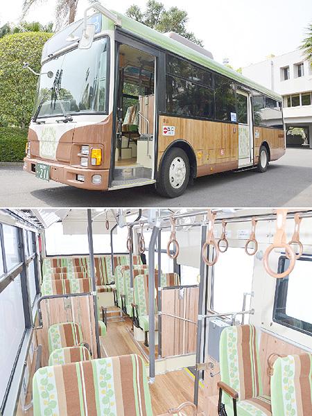 宮崎交通、スギ使用の「日南レトロバス」運行