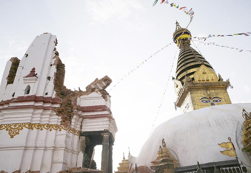 ネパール大地震で各地の歴史遺産に大きな被害