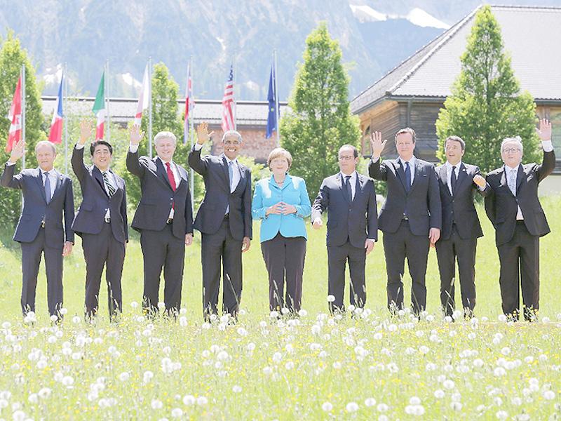 G7サミット、ドイツの保養地エルマウで開幕