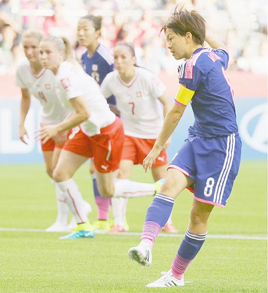 女子W杯でなでしこ好発進、スイスに1-0
